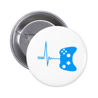 Gaming Heart Beat - gamer video games geek pad 2 Inch Round Button