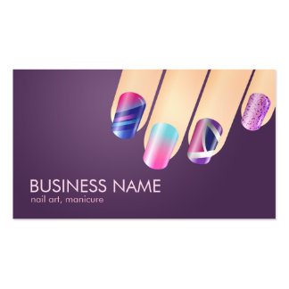 Gel or Acrylic Nail Business Card