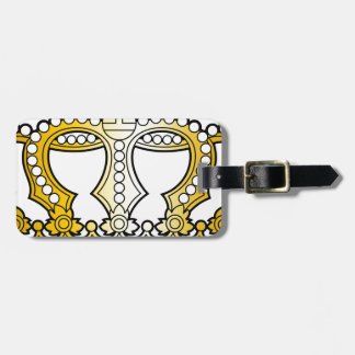 Georgian_golden_crown_with_pearls_and_cross Bag Tags