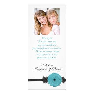 Gerber Daisy Wedding Program Custom Rack Card