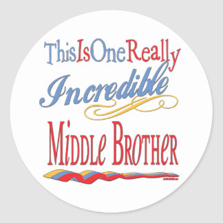 Gifts For Brothers Round Sticker