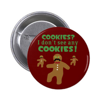 Gingerbread Man Disguise 2 Inch Round Button