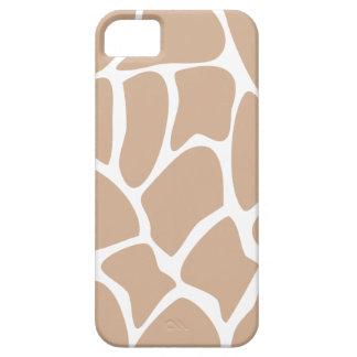 Giraffe Print Pattern in Beige. Case For The iPhone 5