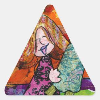 Girl with Torah Triangle Sticker