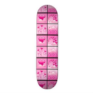 Girlie Pink Hearts Of Love Skateboard Decks