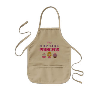 Girl's Apron: The Cupcake Princess Kids Apron