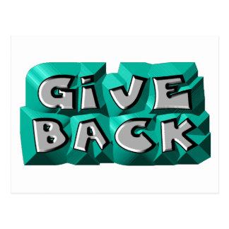 Give Back Postcard