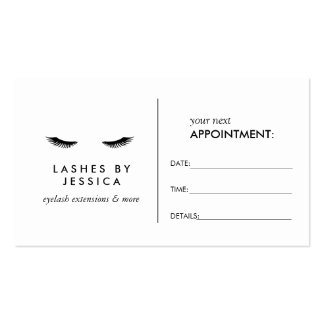 Glam Eyelashes Classic White Appointment Card Business Card