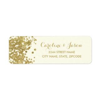 Glam Return Address Labels | Chic Faux Gold Foil