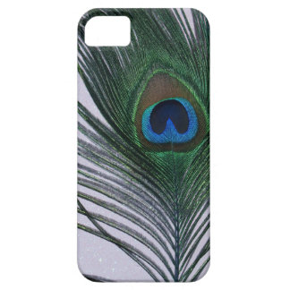 Glittery White Peacock Feather Still Life iPhone 5 Cover