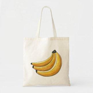 Go Bananas Yellow Banana Bunch Fruit Tote Bag