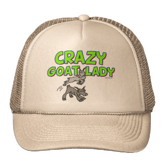 Goat T-shirt Crazy Goat Lady 5 Trucker Hat