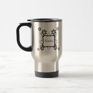 Goddess Floral Mug, Dark Gray 15 Oz Stainless Steel Travel Mug