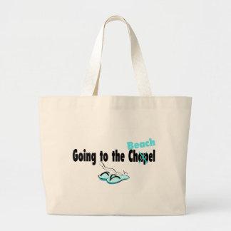Going To The Chapel Beach Jumbo Tote Bag