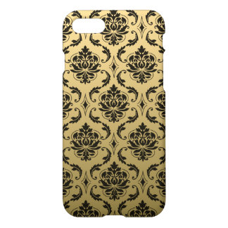 Gold and Black Classic Damask iPhone 7 Case
