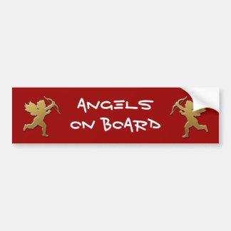 gold cupid bumper sticker