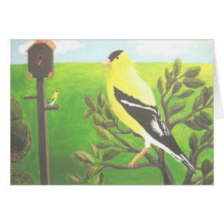Gold Finch Blank Note Card
