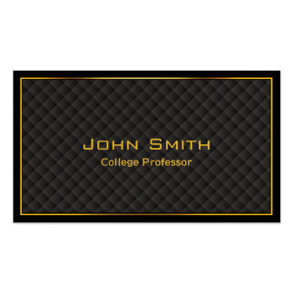 Gold Frame Diamond Grids Professor Business Card