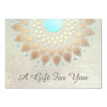 """Gold Lotus Salon and Spa Gift Certificate 4.5"""" X 6.25"""" Invitation Card"""