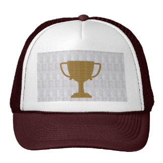 GOLD Trophy Crystal White Background NVN287 Winner Trucker Hat