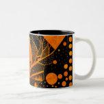 golden abstract Two-Tone coffee mug