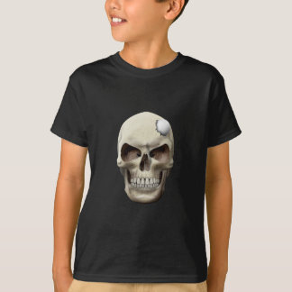 Golf Ball in Skull T Shirt