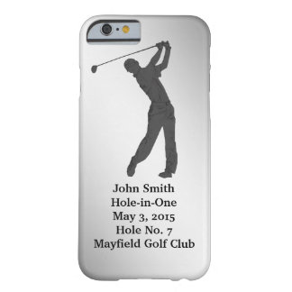 Golf Hole-in-one Commemoration Customizable Barely There iPhone 6 Case