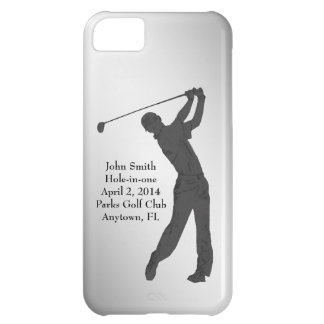 Golf Hole-in-one Commemoration Customizable iPhone 5C Cover