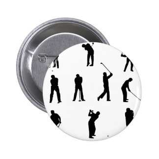golf-silhouettes. 2 inch round button