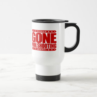 GONE POOL SHOOTING - Undefeated Billiards Player 15 Oz Stainless Steel Travel Mug