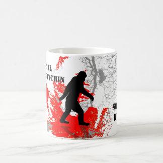 Gone Squatchin, black bigfoot Classic White Coffee Mug