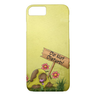 Goofy Turtle Green Do Not Disturb Tortoise Cute iPhone 7 Case