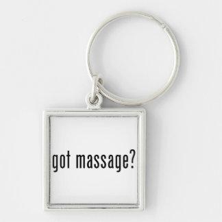 Got Massage? Silver-Colored Square Keychain