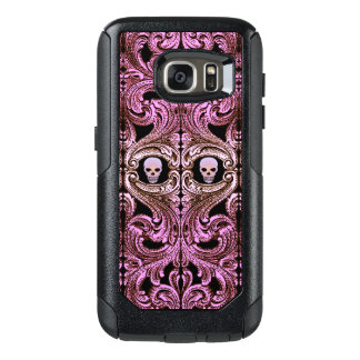 Goth Pink Ornament with Skull OtterBox Samsung Galaxy S7 Case