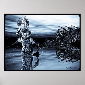 Gothic Mermaid Queen Poster