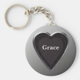 Grace Heart Keychain by 369MyName