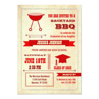 Graduation Backyard BBQ Invitation
