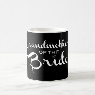 Grandmother of Bride White on Black Classic White Coffee Mug