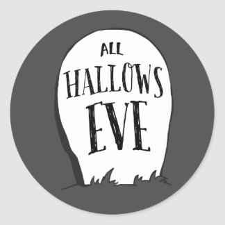 Graveyard Stories Halloween Party Round Sticker