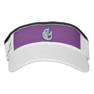 Gray Narwhal Whale With Spots Ink Drawing Design Visor