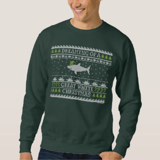 Great White Christmas Ugly Sweater Pull Over Sweatshirts