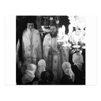 Greek priests postcard