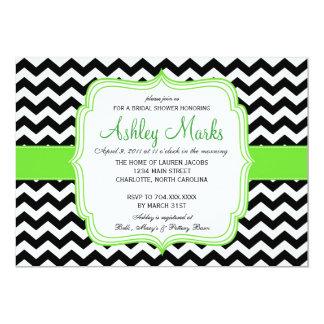"Green and Black 5"" X 7"" Invitation Card"