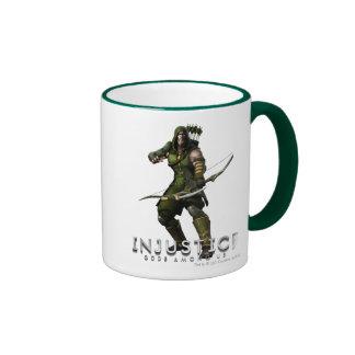 Green Arrow Ringer Coffee Mug