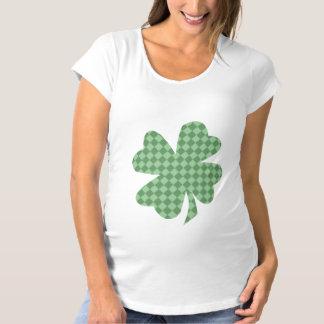 Green Checks Shamrock Maternity Shirt
