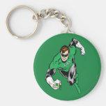Green Lantern Fly Forward Basic Round Button Keychain