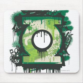 Green Lantern Graffiti Symbol Mouse Pad