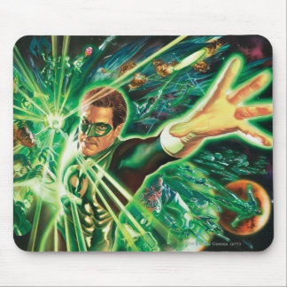 Green Lantern Painting Mouse Pad