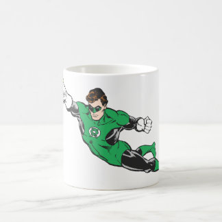 Green Lantern Punches Classic White Coffee Mug
