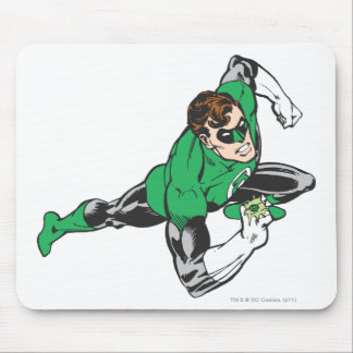 Green Lantern Runs Mouse Pad